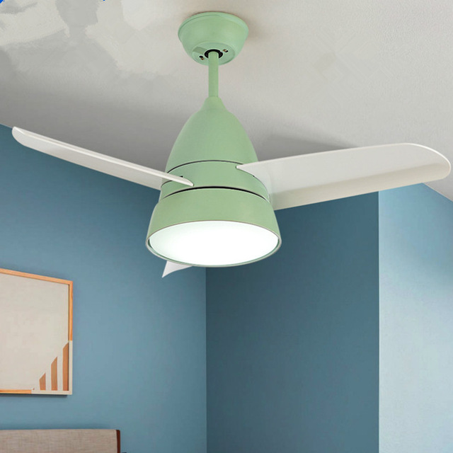 Modern Kids Ceiling Fan Light Simple Children Bedroom With Led And Remote Control