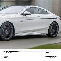 2PCS KK Car Body Sticker For Mercedes Benz AMG W204 W211 W210 C63 C180 E200 CLA GLK GLE GLA A180 A B C E Class A45 Amg Logo