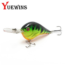 Купить с кэшбэком Yuewins 9cm 11.1g Swim Fish Fishing Lure Artificial Hard Bait for Bass Pike Trolling pesca carp Fishing Crankbait Wobbler TP164