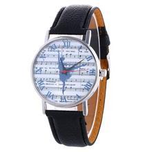 2017 Dignity Women's Fashion Casual Sport Music Spectrum Pattern Colored PU Leather Quartz Watch Clock Dec 1