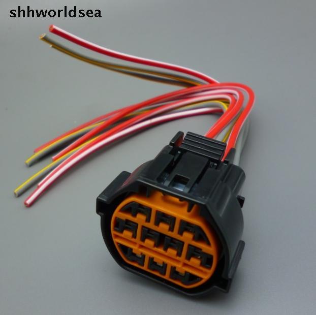 Shhworldsea 1pcs 10 Pin Car Headlight Socket For Hyundai