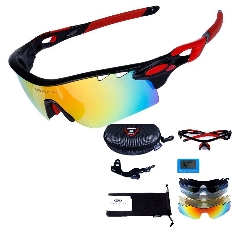 2017 MTB Glasses Polarized Cycling Sunglass men women Bicycle Eyewear UV400 Bike glass P ...