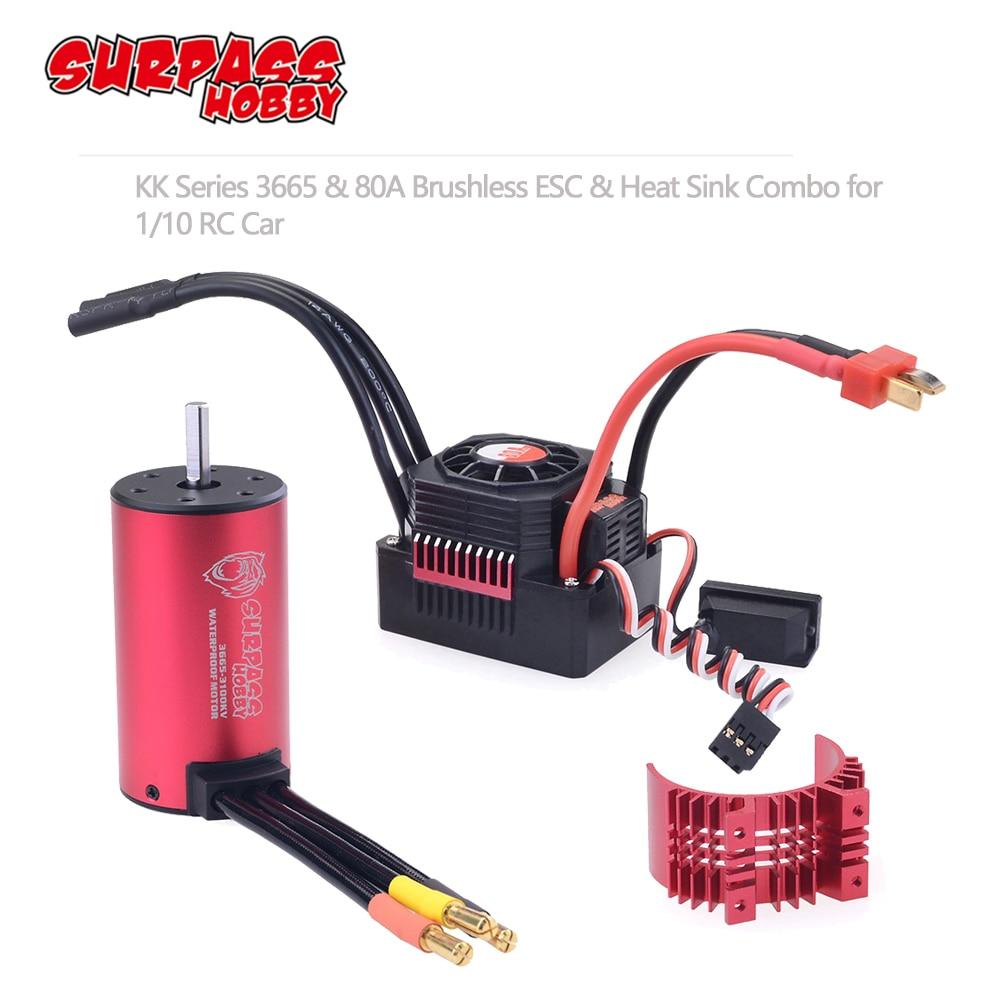 KK Waterproof Combo w/ 80A ESC 3665 1550KV 1800KV 2000KV 2300KV 2900KV 3500KV Brushless Motor for RC Car 1/10 RC Rock Crawler-in Parts & Accessories from Toys & Hobbies