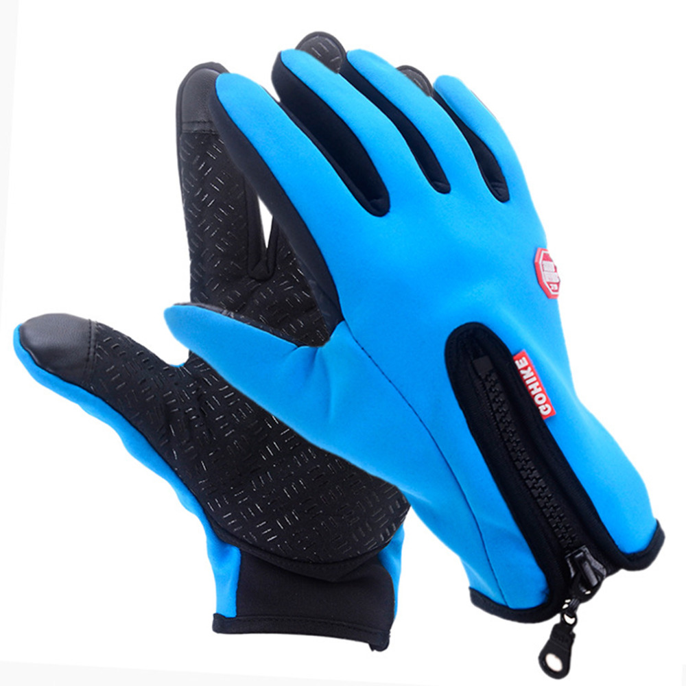 1pair Mens Winter Touch Screen Windproof Outdoor Sport Gloves For Sarung Tangan Hiking Waterproof Men Women Driving Full Finger Glove Warm Hot Sale In Cycling From