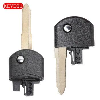 Keyecu 교체 플립 폴딩 원격 키 헤드 부품 마즈다 3 5 6 플립 원격 키 빈 열쇠가없는 케이스 블레이드