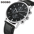 Brand Luxury Men Casual Sports Watches Men's Quartz Watch Leather Analog Clock Male Military Wrist Watch DOOBO relogio masculino