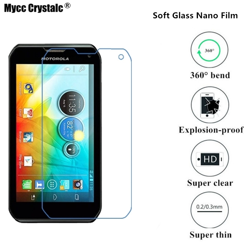 (Soft Glass) Nano Explosion-proof Super thin clear Screen Protector Film For Motorola MOTO Photon Q 4G LTE XT897 Film