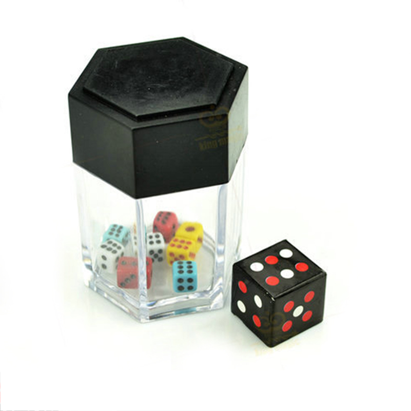 New Funny Magic Tricks Colorful Bomb Dice 1 change 8 Dices Magic Props Easy to do Amazing Toys in Magic Tricks from Toys Hobbies