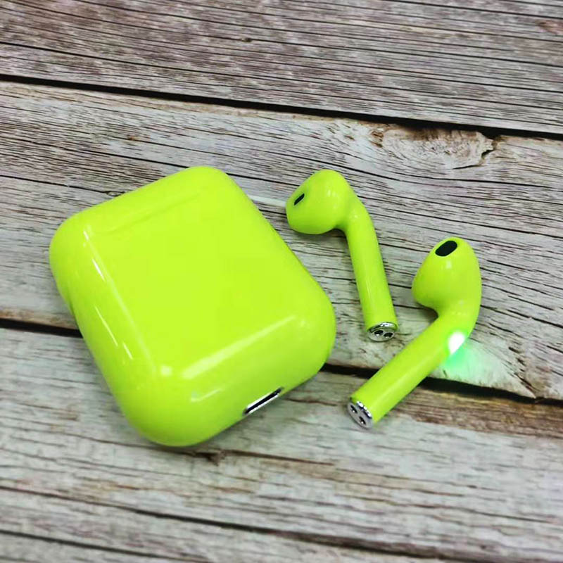 i12 Sugar Color Touch Control Bluetooth Earphones For iPhone And Android 8