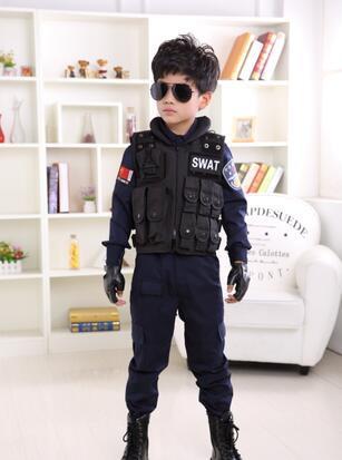 2016 hot Children Camouflage Clothing 3 Pcs 2016 Boys Girls Army Uniform Sports Set Kids Tracksuit Waistcoat+T-shirt+Pants
