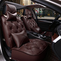 men and women 2pcs Front Seat Cover + 1pcs Back Seat Cover Leather Car 5 seats Supports