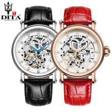 DITA Skeleton lover's watches luxurious automated mechanical couple watch sport waterproof  enterprise leather-based belt watch Tourbillon