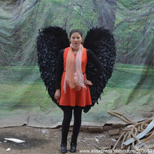 High quality black devil angel wings large fairy wings stage performance supplies creative gifts DIY decorations height 130cm