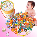 Toy Wool Wooden 70 Children Colorful Cartoon Cake Early Education Bead For 1~3 Years Old Children