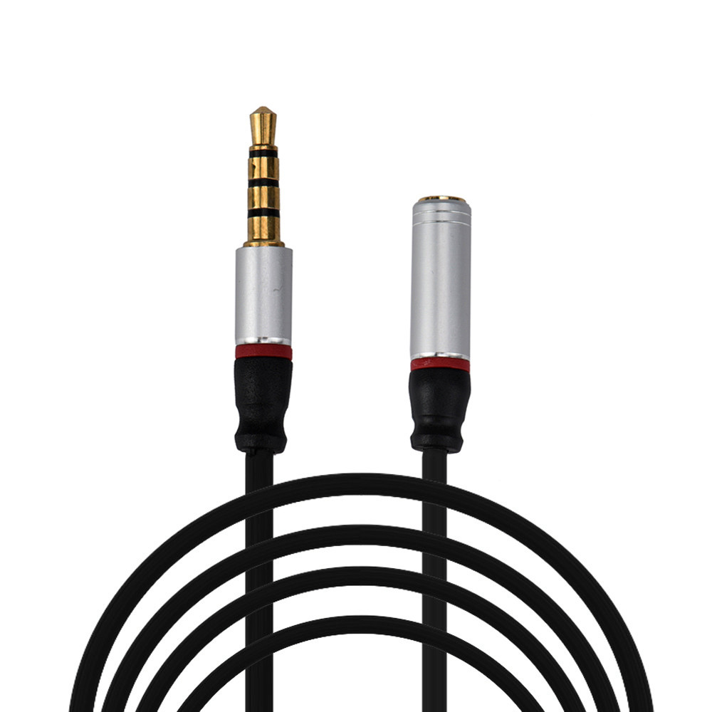 Malloom 2017 4ft 3 5mm 4 pole aux extension cable stereo audio headphone male to