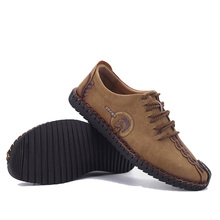High Quality 2017 Men'S Autumn Casual Men Genuine Leather Shoes Male Blazer Shoes Men Loafers Soft Leather Oxford D49