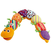 Musical Baby Toy Musical Caterpillar Rattle With Ring Bell Cute Cartoon Animal Plush Doll Early Educational