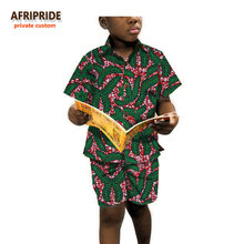 1b8beb1d06fd64 2018 boys short sleeve shirt and pants african clothes for kids children  clothing print cotton wax
