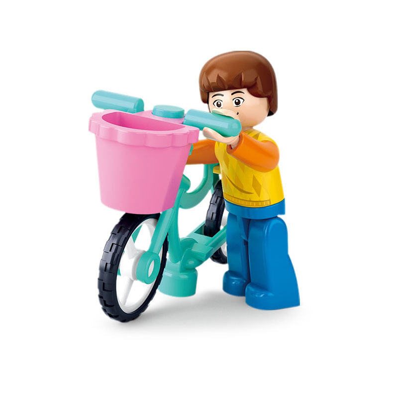 City Bike Boy Building Blocks Compatible with Legoelieds Playmobil for Girls Educational Toys for Children Original Box B0516