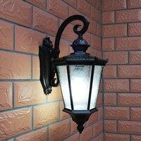 O pacote de parede do vintage conduziu a luz ip54 impermeável ao ar livre luminária para parede conduziu a lâmpada de parede do abacaxi pátio gazebo 220v/110v