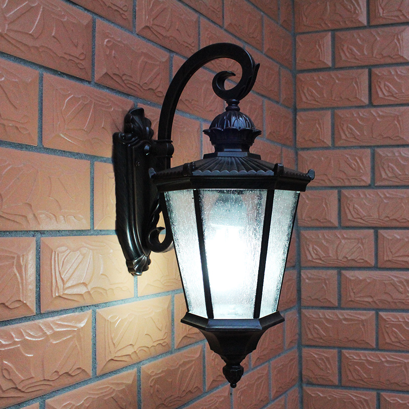 vintage led wall pack light ip54 waterproof outdoor light fixture to wall led pineapple wall lamp courtyard gazebo 220v/110v