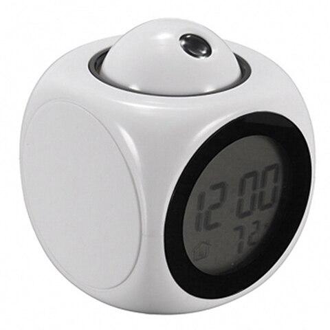 Led Display Projection Led Clock Electronic Desktop Alarm Clock Digital Table Clocks Snooze Function Cables Home Decor BTZ1 Pakistan