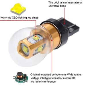 Image 3 - 2 sztuk T20 W21W LED WY21W W21/5W 7440 7443 żarówki LED T25 3157 P27/7W chipy XBD lampa samochodowa biały czerwony bursztyn światła samochodowe LED 10V 30V DC
