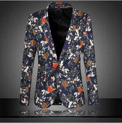 Robe Plus Loisirs 9868 Taille 9866 Blazers Manteau La M Flower 9867 9830 Automne Affaires 2017 Veste Floral Costume Hommes 9830 Printemps 6xl 9829 Blue Nvmn80w