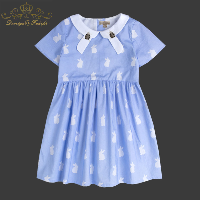 Summer 2018 Baby Dresses Tutu Girls Party Cotton Princess Birthday Cute Blue Dress For Weddings Costume Tutu 2 Year Kid Clothing baby girl party dress 2018 summer white party princess elegant 3 year birthday dresses tutu for weddings vestidos baby clothing