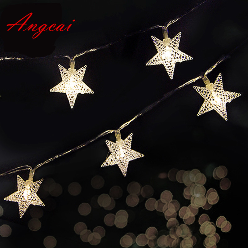 2M 3M 4M 5M 20M Battery Operated 10M AC110-220V Plug In String Fairy Novelty Lights LED Star Flower Christmas Home Garland Decor