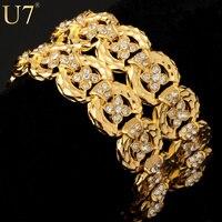 Big Size Chain Bracelets Bangles Unisex Women Men Jewelry Trendy Platinum 18K Gold Plated Rhinestone 33