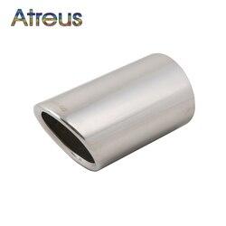 Atreus 1 قطع الفولاذ المقاوم للصدأ كاتم صوت عادم السيارة تلميح الأنابيب لتويوتا Rav4 راف 4 2013 2014 عالية الجودة اكسسوارات السيارات