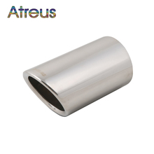 Atreus 1pcs Stainless Steel Car Exhaust Muffler Tip Pipes For Toyota Rav4 RAV 4 2013 2014 High quality Auto Accessories