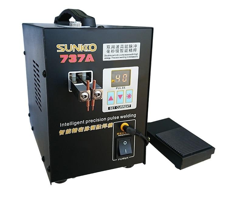 SUNKKO 737A Spot Welder 18650 lithium battery double pulse precision spot welding machine with digital LCD 110V 220V optional