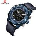 NAVIFORCE Casual Sport Quarzuhr Männer Dual Display Kalender Multifunktions Analog Digital Herren Uhren TOP Marke Luxus Uhr