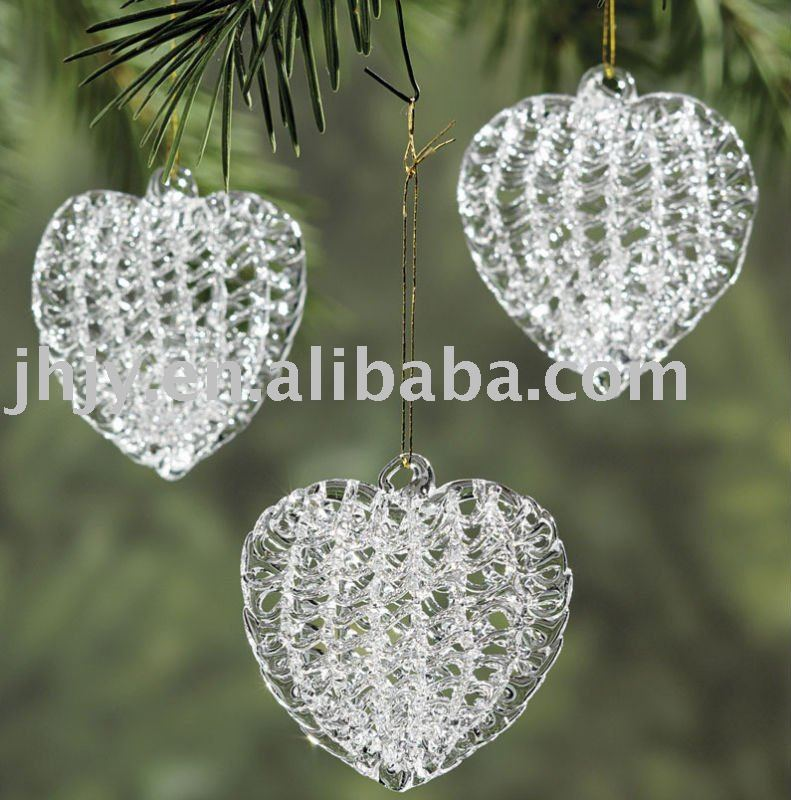 Spun Glass Heart Ornaments.-in Christmas from Home ...