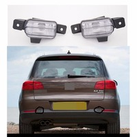 1Pair Tail Rear Bumper Fog Light Lamp With Bulbs White For 2012 2014 VW Volkswagen Tiguan