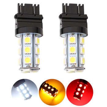 цена на 2x 3157 3156 T25 T-25 5050 Chips 18 SMD LED Bulb Lamp Car Light Sourse Backup light Turn Led Signal Reverse Head Light White 12V