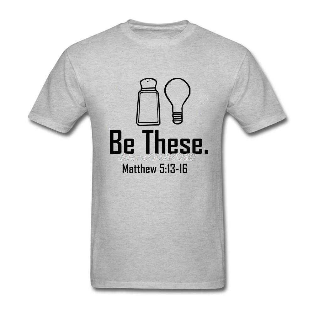 POP быть эти соль и Свет христианской Matthew 513-16 т рубашки KPOP футболка Для мужчин Хлопок Crewneck 3XL короткий рукав футболки
