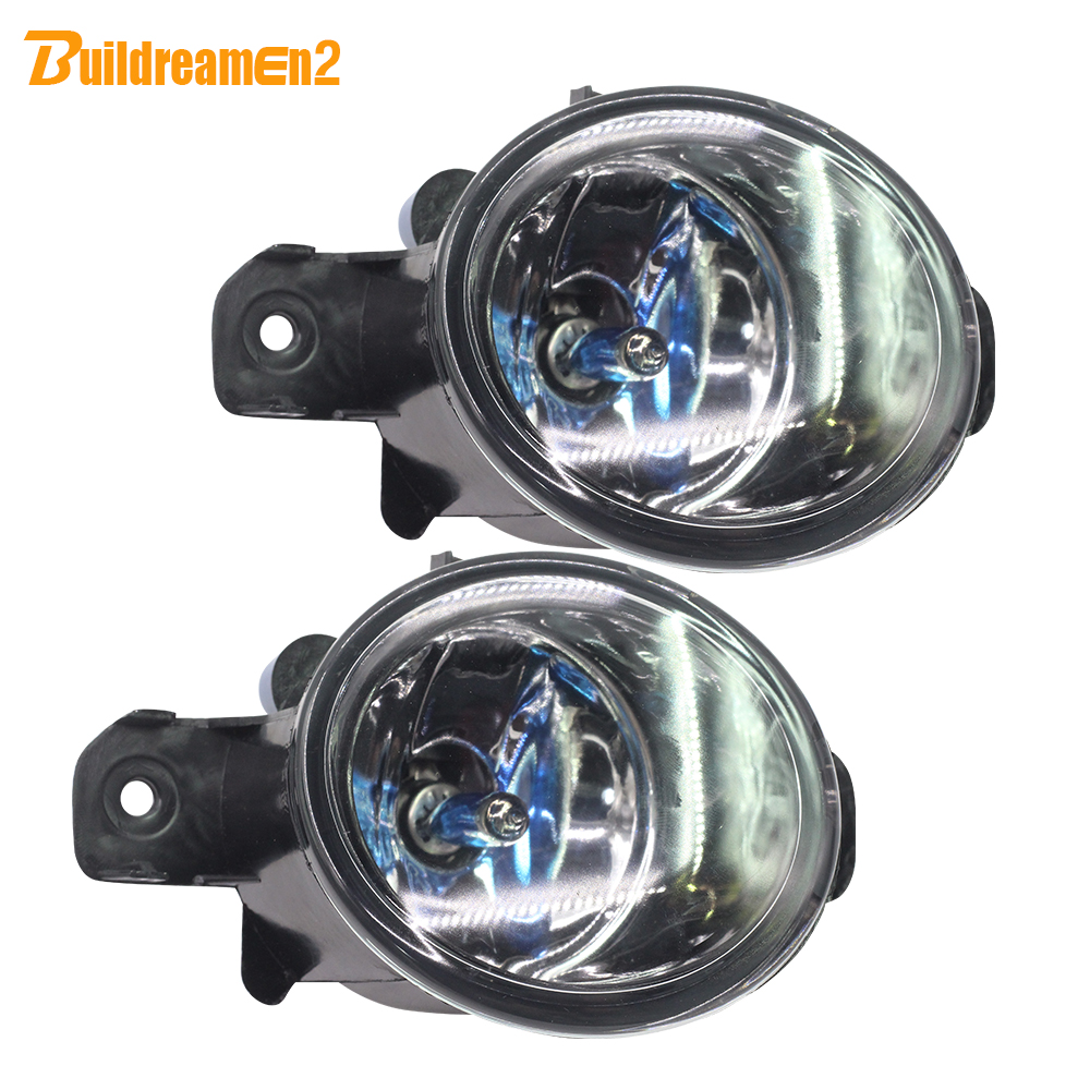 Buildreamen2 For Renault Laguna Modus Espace Koleos Thalia Symbol 100W Car Halogen Fog Light Daytime Running Lamp DRL Styling for renault laguna 2 ii grandtour kg0 1