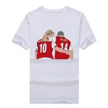 Hot sale gunners Legends Dennis Bergkamp and Thierry Henry T shirt Fashion mens  100% cotton short sleeve T-shirt 10162010