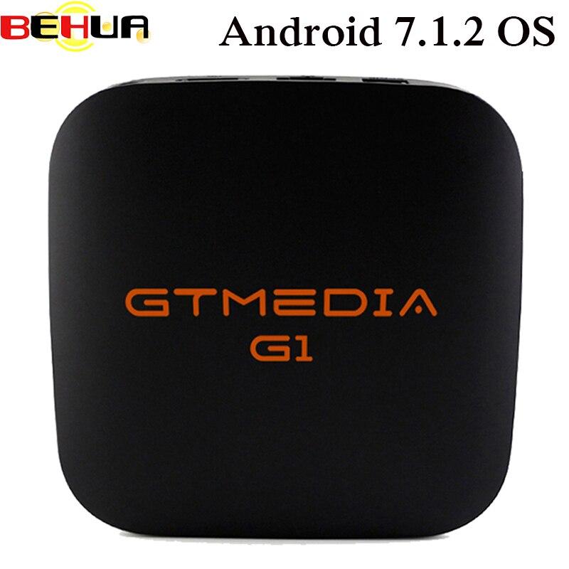 цена на GTMEDIA G1 Android 7.1.2 OS Smart TV Box Amlogic S905W Quad Core Media Player Android TV Box 4K HD 2.4G Wifi Genuin Set Top Box