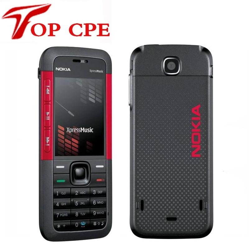 Original 5310 Nokia 5310 XpressMusic Bluetooth Java Phone 2MP MP3 palyback Refurbished Freeshipping