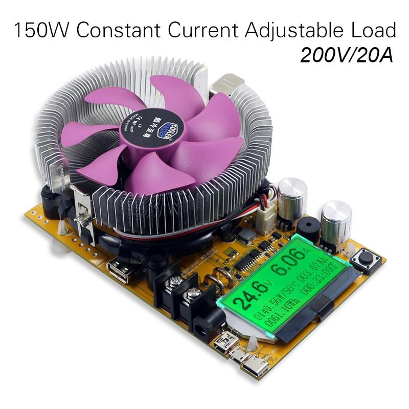 все цены на 200V 20A 150W adjustable Constant Current Electronic Load Battery Tester 12V24V48V Lead-acid  lithium Discharge Capacity meter онлайн
