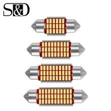 1 sztuk C5W LED samochodów wewnętrzna lampka Canbus Festoon 31mm 36mm 39mm 42mm żarówki LED 6000K biała lampa kopułowa do czytania lampa samochodowa 12V