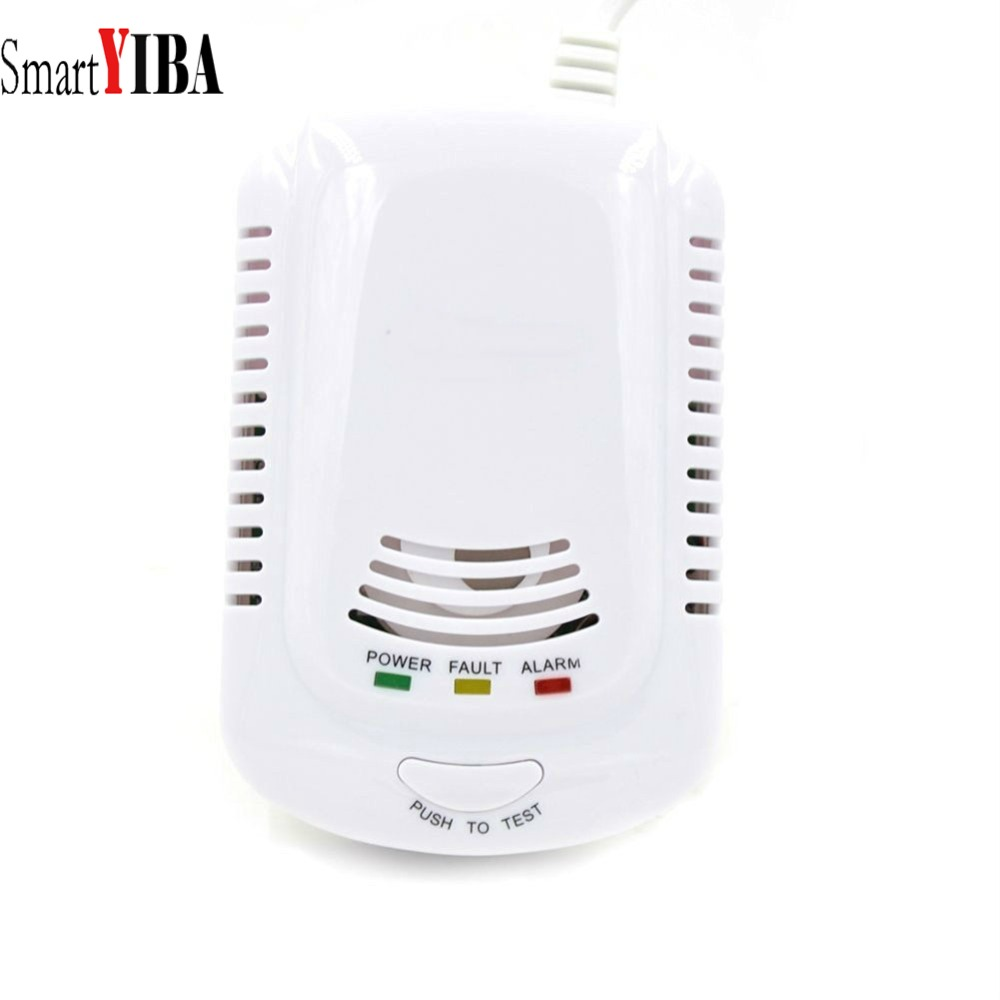 SmartYIBA GAS SENSOR Independent Plug In Combustible Natural GAS DETECTOR GAS LEAK SENSOR Alarm WithVoice Warning Kitchen Alarm