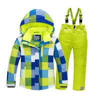 New 4~16 years brand children Waterproof ski suit jackets Winter coat kids jacket parka snowsuit girls coats boys clothing set