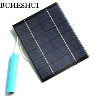 BUHESHUI 5.2W 6V Solar  Panel Charger For Mobile Power Bank Polycrystalline USB Solar Mobile Charger 5pcs/lot  Free Shipping