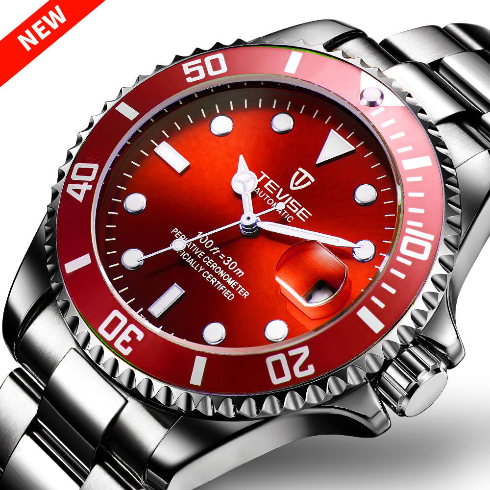 new water ghost watches automatic mechanical watches Men's fashion sports waterproof mechanical men's watch