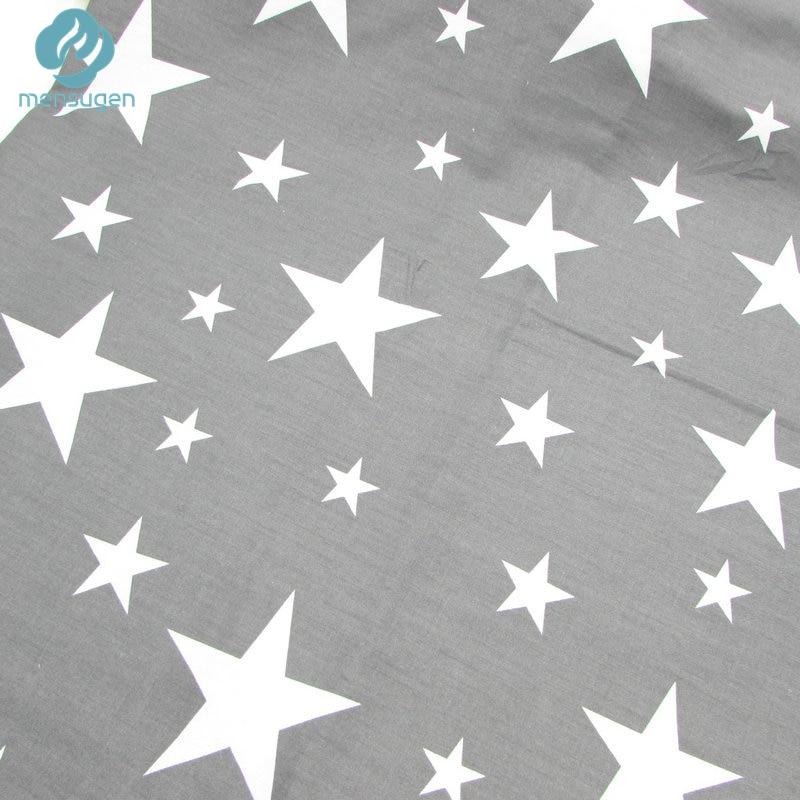 2pc 50*160cm Grey Stars Chevron Design Cotton Fabric for Home ...